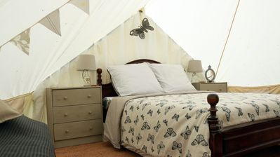 Photo for Luxury Bell Tent Glamping in the heart of rural France