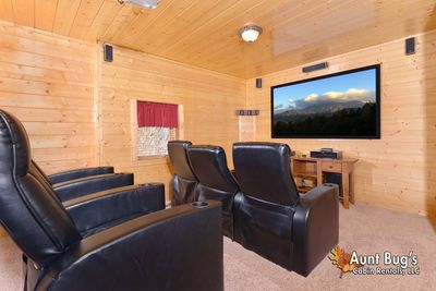 Home Movie Theater - Enjoy your own Family Home Movie Theater at the Cabin!