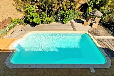 pool from above terrace