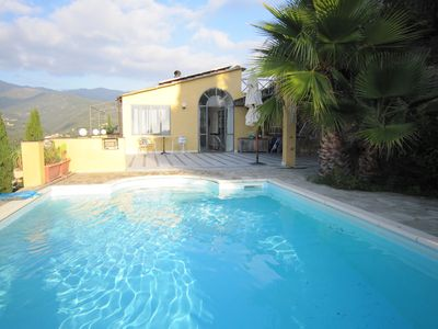 Photo for Villa Serena with pool and sea view, sunny location in the olive grove,