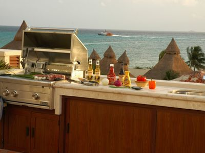 Photo for Winner of Top 25 in Luxury in All of Mexico -PH 2/2 Jacuzzi BBQ Beach Club Promo #5