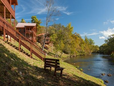 Photo for Hiwassee River Frontage~Trophy Trout Fishing~Large Groups~Casino~2 Kings/Bunkbed