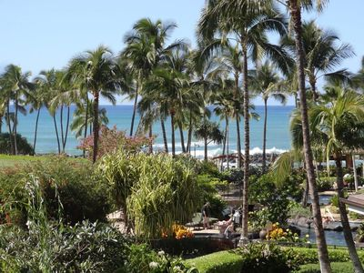 View of the Pacific Ocean from the lanai