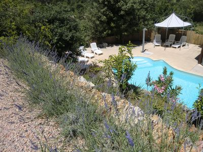 Photo for Nice country house with swimming pool in historical village of Green Provence