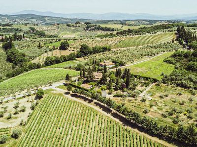 Photo for B&B Chianti Vineyard Hilltop, Outdoor Patio, Minutes from Town
