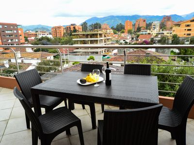 Photo for Morning Coffee on Penthouse Tce overlooking Cuenca to the Andes * Gym * Internet