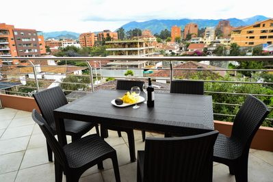 Alfresco dining with a view from the Terrace