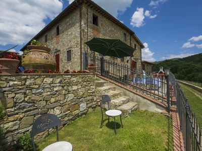 Photo for Stunning  villa for 6 people with pool, TV, pets allowed and parking, close to Greve In Chianti