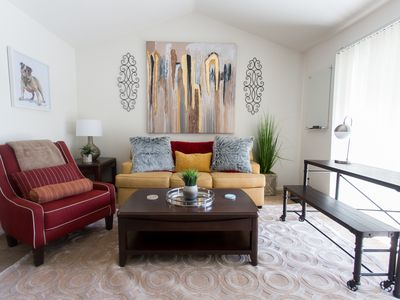 Photo for Lux Apt | King Bed | Fast WiFi | Pool | Parking