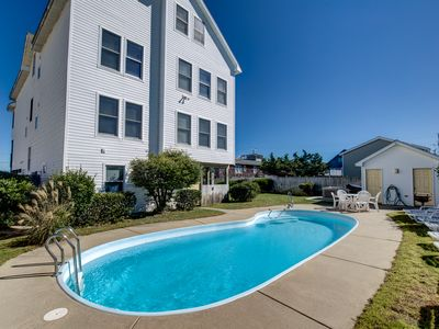 Photo for Sunny Delight | 400 ft from the Beach | Dog Friendly, Private Pool, Hot Tub