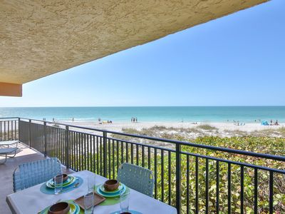 Photo for Beach Oasis! Beachfront Condo with Unforgettable Sunsets, Heated Pool, WiFi