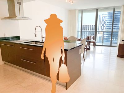 Photo for Stunning Ocean Views + 5-Star Amenities @ Luxury Icon Brickell @ Discount Rates!