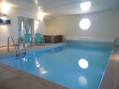Photo for HIGH STANDING VILLA 150M FROM THE BEACH, HEATED INDOOR SWIMMING POOL
