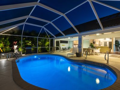 Photo for Gulf access single family home in SW Cape Coral solar and electric heated pool Close to Cape Harbour
