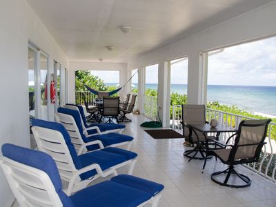 Photo for Brac Beach House! Oceanfront Private Home! Dive-Kayak-Snorkel-HIke-Bike-Hammocks