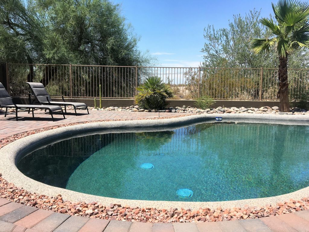 Goodyear House Al Backyard With Swimming Pool Outdoor Patio Set Seats 4