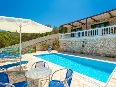 Photo for Villa Martha: Large Private Pool, Walk to Beach, Sea Views, A/C, WiFi, Car Not Required