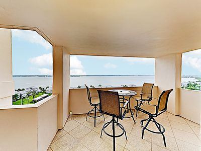 Photo for New Listing! 11th-Floor Beachfront Perch w/ Gulf Views & Pool - Steps to Sand