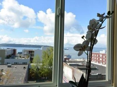 Stylish downtown condo with views of the Puget Sound.