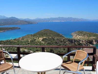 Photo for Heavenly located above the sea, pool, wifi - holiday apartment Istron, Crete