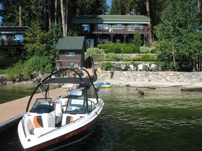Photo for Private Lakefront Mountain Cabin, Sandy Beach, Hot Tub-McCall