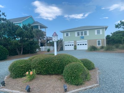 Photo for Oceanfront property at Topsail Beach, NC with unique deck