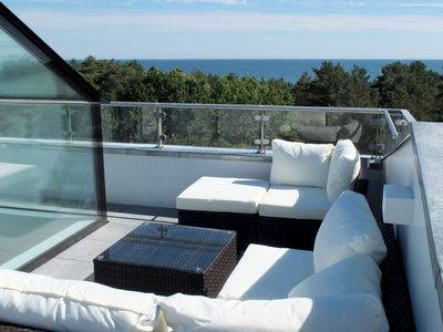 Photo for In the 1. Row of dune & bathing beach, balcony and roof terrace with all-round view