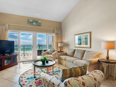Photo for Charming Condo With Gulf View! Grill, Pools, Beach Access, Nearby Shops & Restaurants!