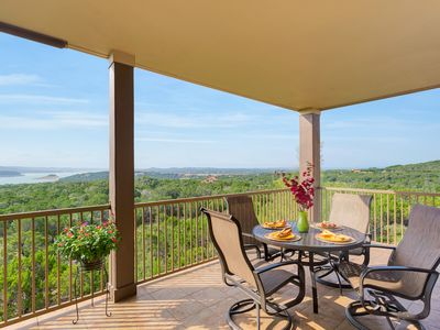 Photo for Beautiful Condo with Lake Travis View at Hollows Resort, Beach Club/Grill, 4 Pools -  Infinite, 2 Spa Pools, Hot Tub, Lakefront Access, Sand Volleyball Court, Playscape, Marina, Boat/Jet Ski Rentals, 15 miles Scenic TrailsTrails