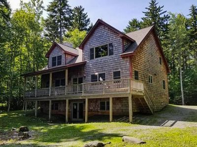 Photo for NEW LISTING! New lakefront home on Moosehead Lake w/views, deck & firepit