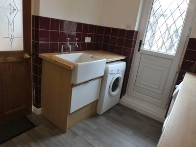 Utility with sink/ separate washer and   tumble dryer