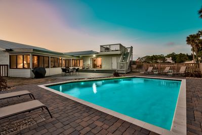 Private Pool w/ outdoor seating and Gas grill