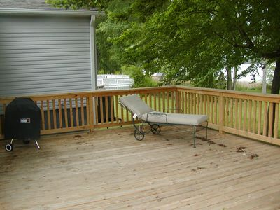 Outside Deck Living.  Sit in the shade of the tree or enjoy the sun