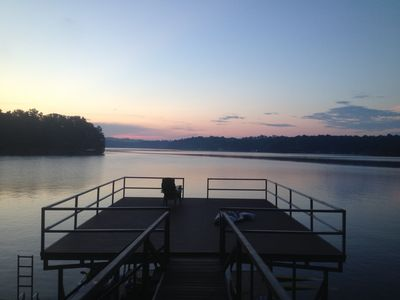 2 Story Dock with Single Boat Slip for your use.  Jump into 45' deep water.
