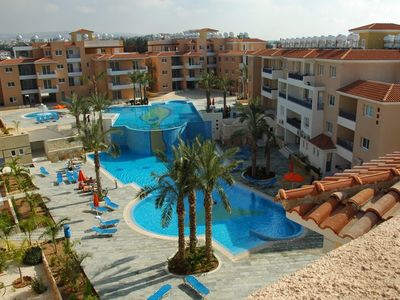 Photo for Paphos - 2 bedroom Apt with Pool View and Sea View