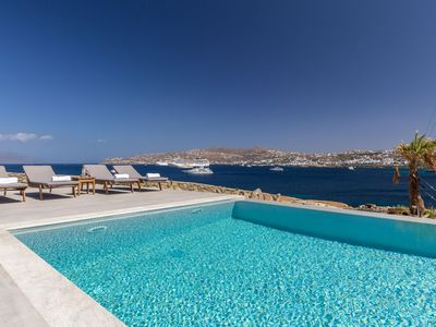 Photo for Luxury Mykonos Carpe Diem Villa 1 | Private Pool | Sleeps 10 | 4 Bedrooms | 3.5 Bathrooms | Korfos