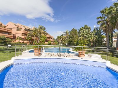 Photo for Ground floor 2 bedroom apartment at El Embrujo Playa, Puerto Banus Marbella.
