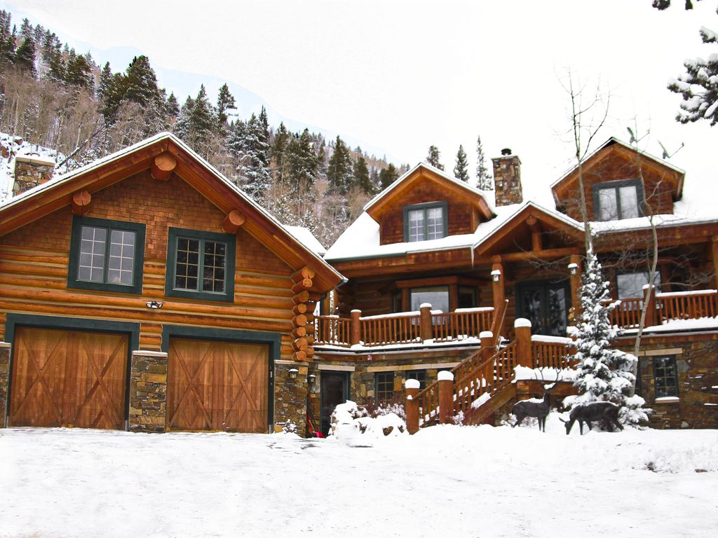 Un vero rocky mountain log cabin getaway homeaway for Affitto cabina breckenridge
