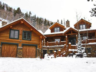Photo for Mtn Log Home, Wildlife, Min. to Town, w/Hot Tub, Pool tbl, Foosball tbl