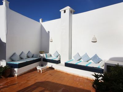 Photo for Beautiful riad for 6-8 persons, quiet, central, 5mn walk to the sea