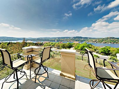 Photo for New Listing! Luxurious Lakeside Estate w/ Fireplace, Balconies, & Fenced Yard