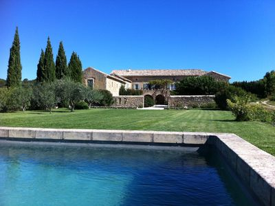 Photo for LARGE MAS with pool in the middle of vineyards and orchards near UZES