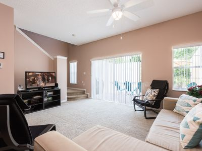 Photo for Renovated 3 BR 2.5 Bath Townhouse in Gated Community - Near Disney!