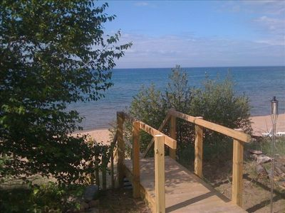 Photo for Lake Superior Beach House on Beautiful Sugar Beach Very Nice