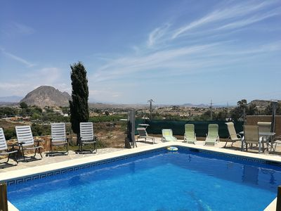 Photo for Rural house with private pool just 10 km from Alicante and beaches.