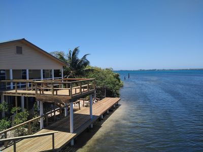 New boat dock and sky deck.