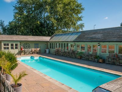 Photo for Beautiful cabin near Bath with heated swimming pool sleeps up to 17 people