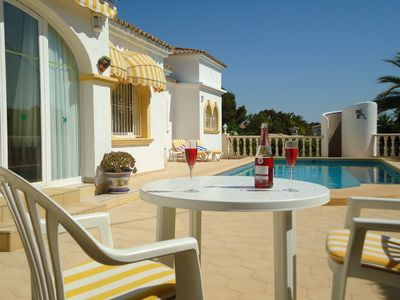 Photo for Luxury Villa Just 700m From Beach & Easy Walk To Moraira Centre. Wi-fi. Aircond.