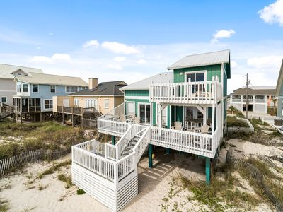 Photo for Absent Minded - Recently updated, beautifully furnished gulf front home with decks galore!
