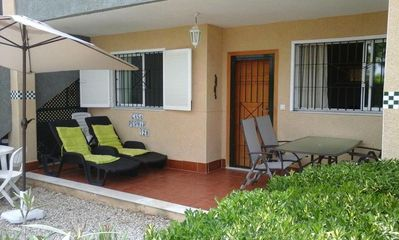 Photo for Bungalow with garden + pool near beach, fiber WiFi + garage. We Speak Engl